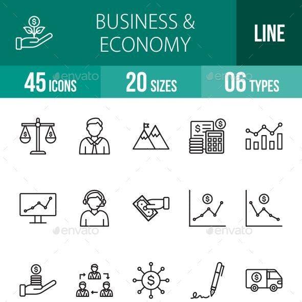 Business & Economy Line Icons