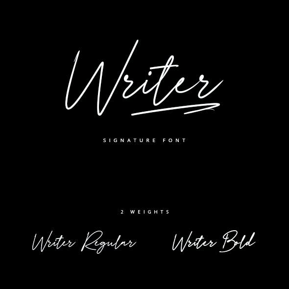 Writer_Signature Brush Font