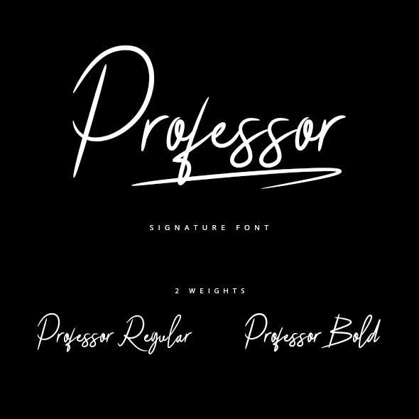 Professor_Signature Brush Font