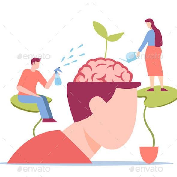Intelligence Growth Concept. Gradual Psychological