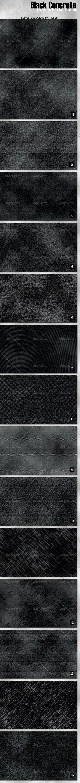 15 Black Grunge Concrete Backgrounds - Miscellaneous Backgrounds