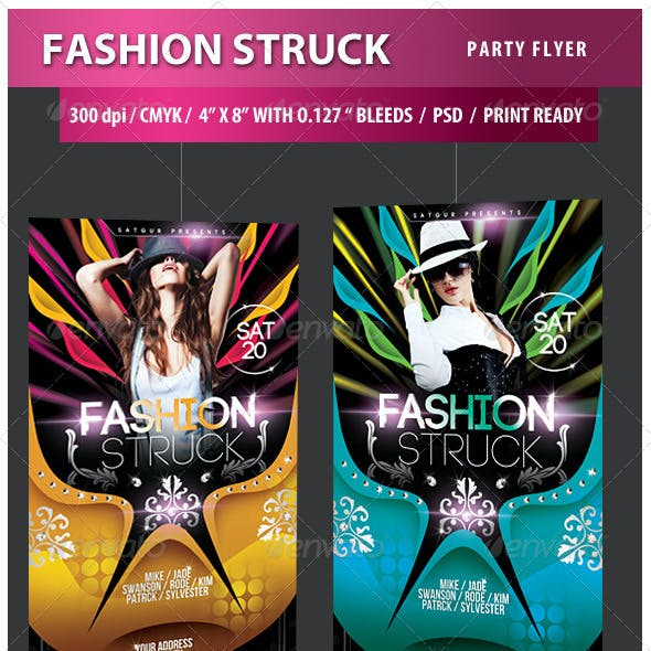 Fashion Struck Party Flyer