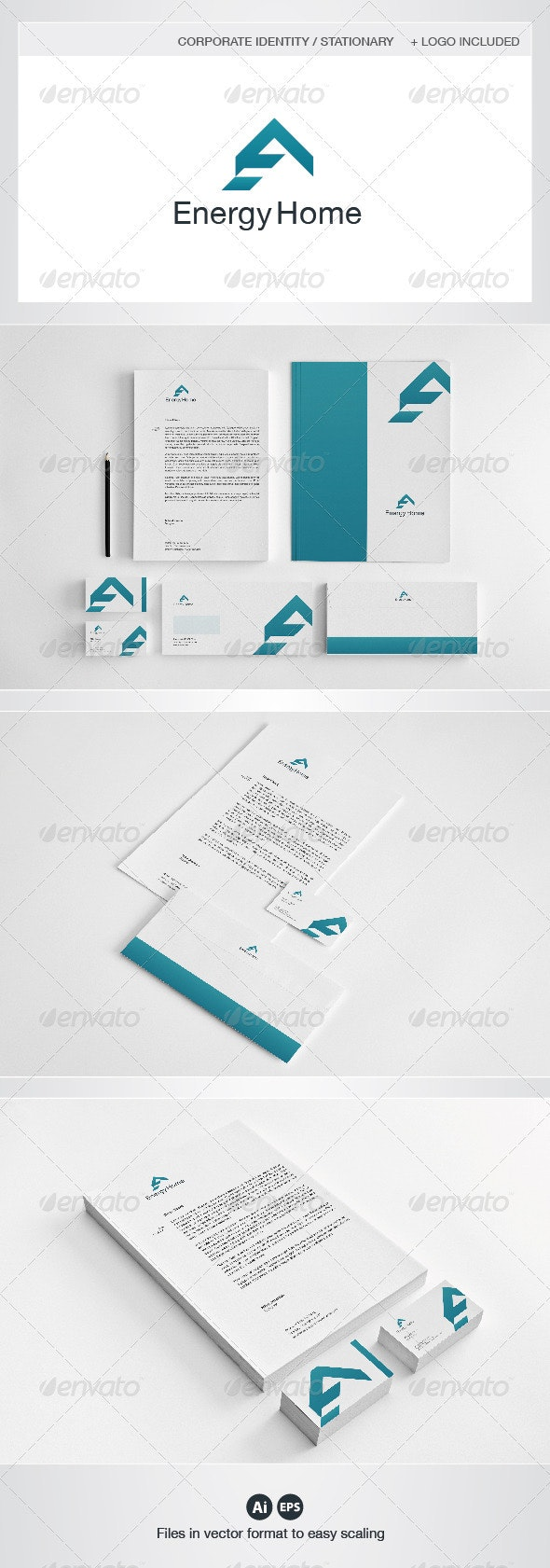 Energy Home Corporate Identity - Stationery Print Templates