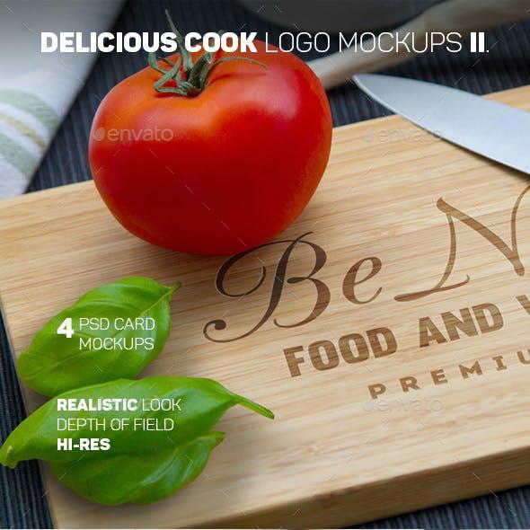 Delicious Cook Logo Mockups II