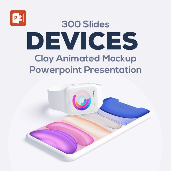 Animated Device Mockup PowerPoint Presentation Template