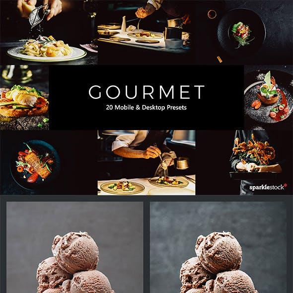 20 Gourmet Lightroom Presets & LUTs