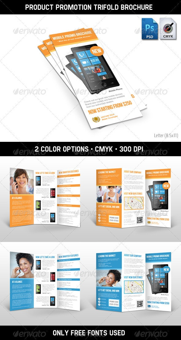 Product Promotion Trifold Brochure - Informational Brochures