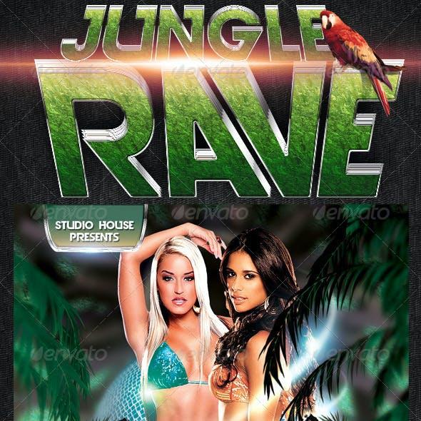 Jungle Rave Party Flyer