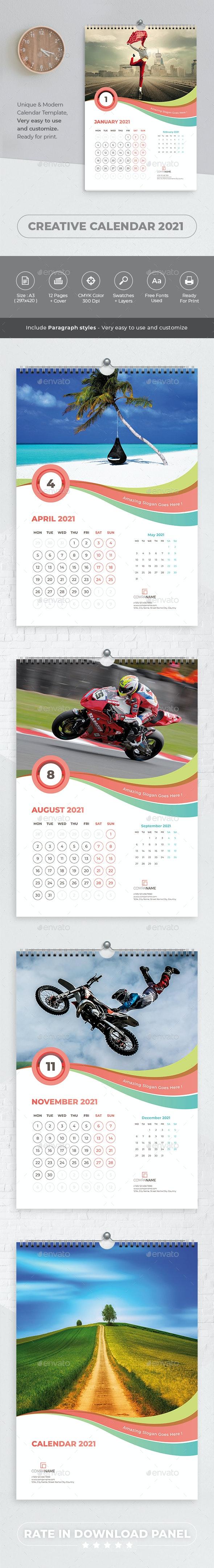 Creative Calendar 2021 - Calendars Stationery