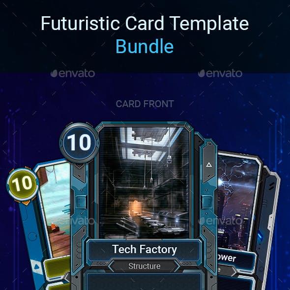 Futuristic Card Templates Bundle