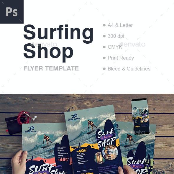 Surf Shop Flyer