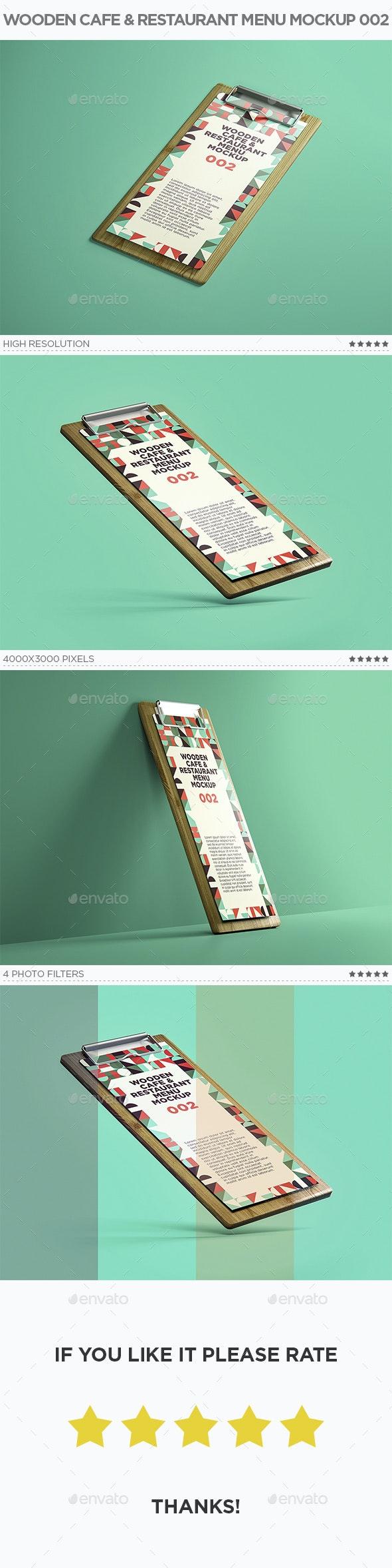 Wooden Cafe & Restaurant Menu Mockup 002 - Miscellaneous Print