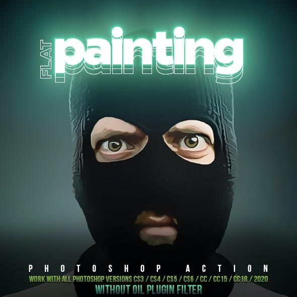 Flat Painting Photoshop Action