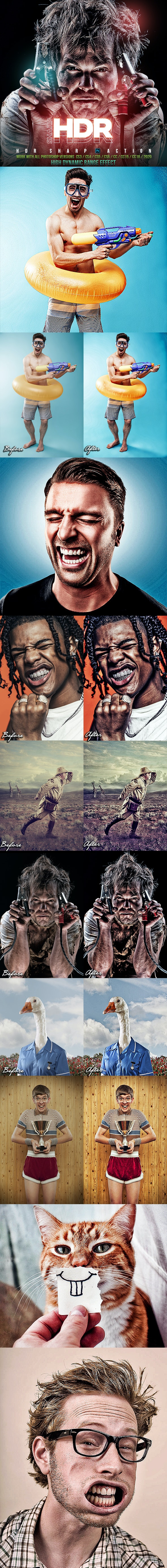 Sharp HDR Photoshop Action - Photo Effects Actions