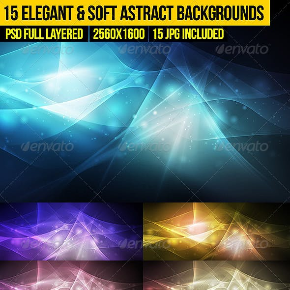 15 Elegant & Soft Abstract Backgrounds