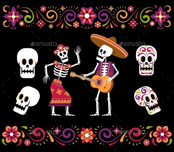 Day of Dead Skeleton Sugar Skull - Flowers & Plants Nature