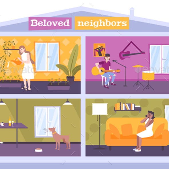 House Neighbors Concept