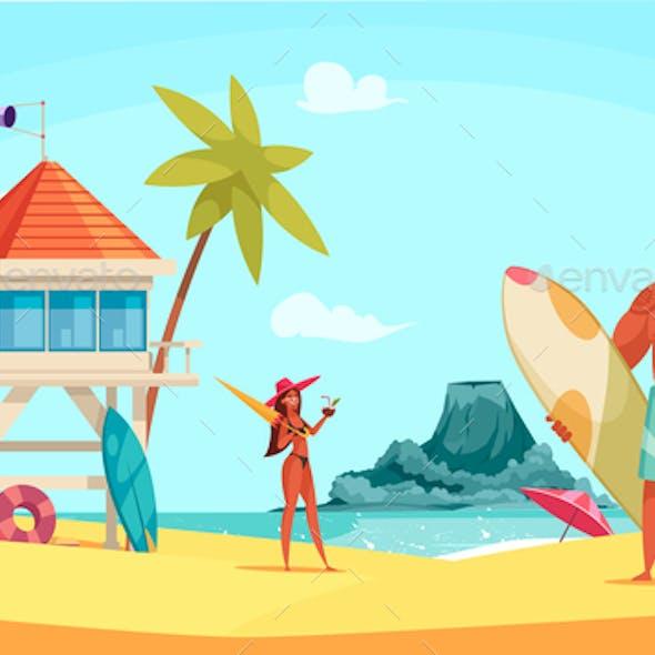 Hawaii Beach Composition