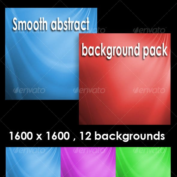 Smooth abstract backgrounds pack V1