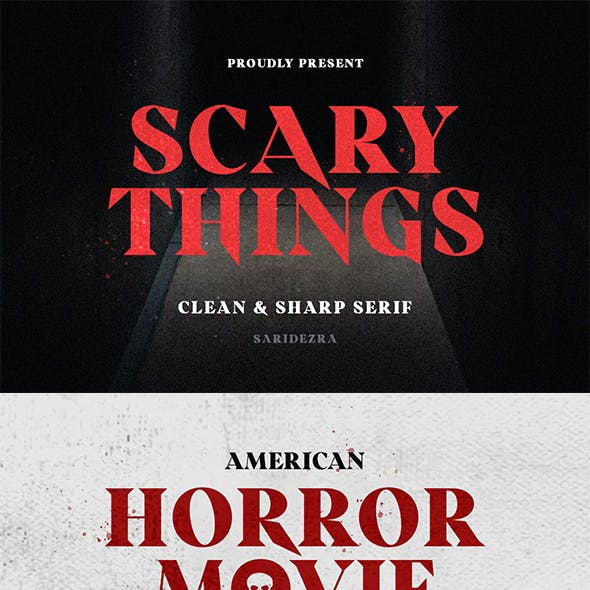 Scary Things - Sharp Serif