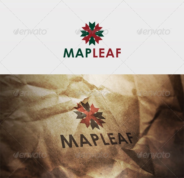 Maple Leaf Logo - Vector Abstract