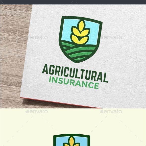 Agricultural Farming Insurance Logo Design Template