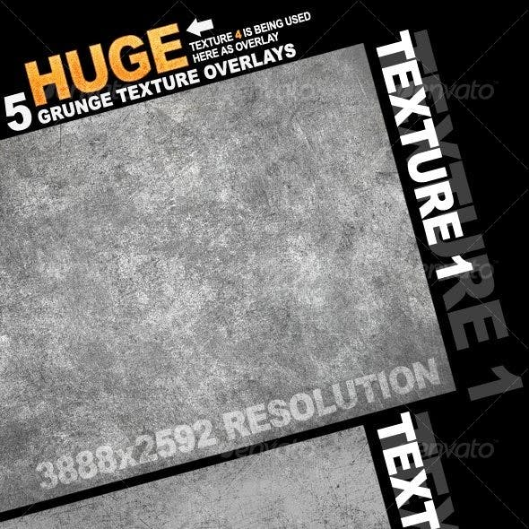 5 Grunge Texture Overlay