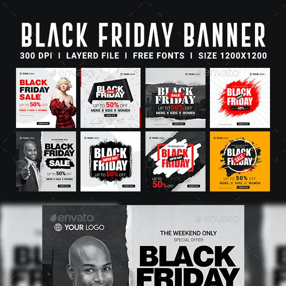 Black Friday Instagram Banners