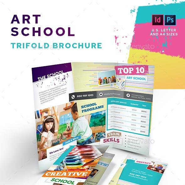 Art School Trifold Brochure