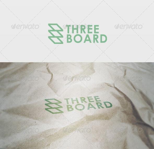 Three Board Logo - Vector Abstract