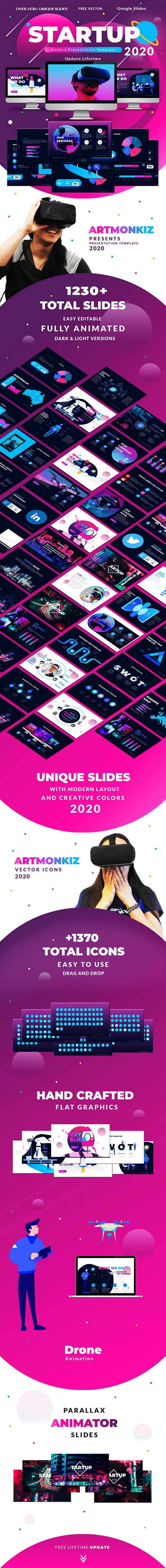 2020 Startup & Multipurpose Premium Google Slides Presentation Template