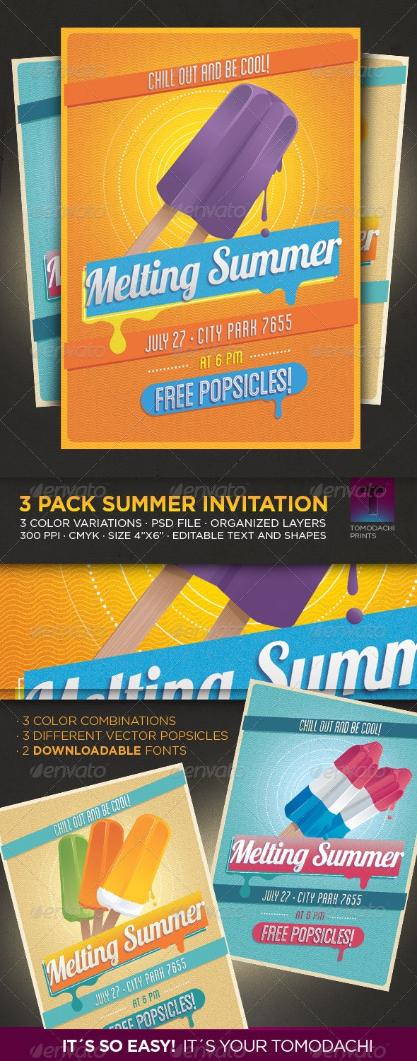 Vintage Summer Flyer - Invitation - Miscellaneous Events