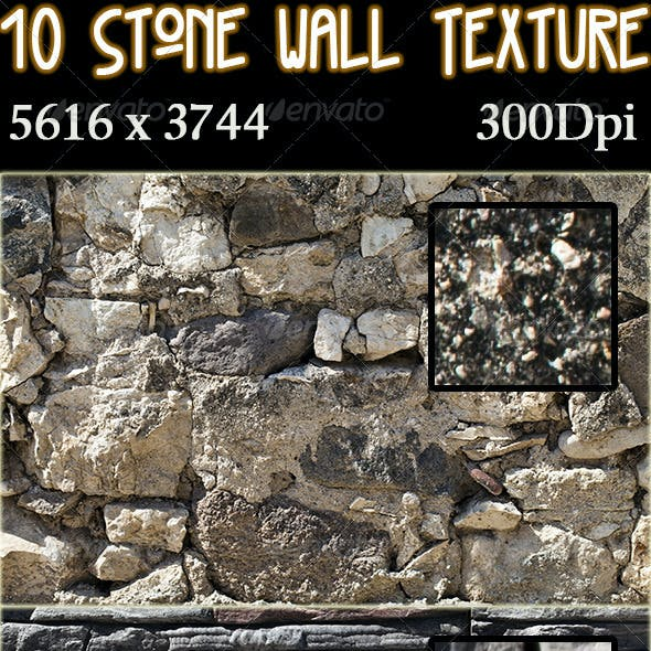 10 Stone Wall Texture Pack