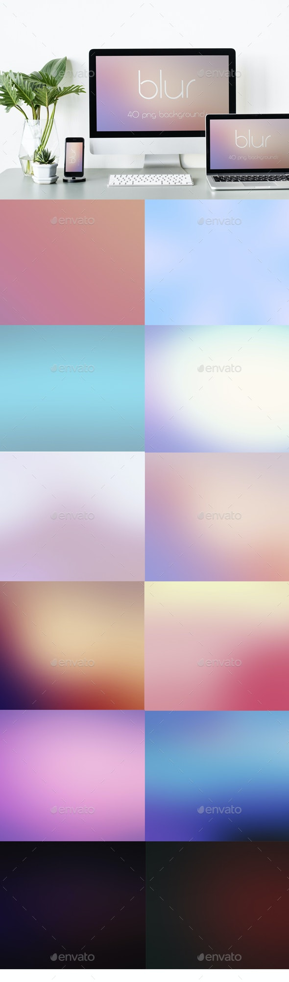 Blur Luxury Backgrounds Pack - Abstract Backgrounds