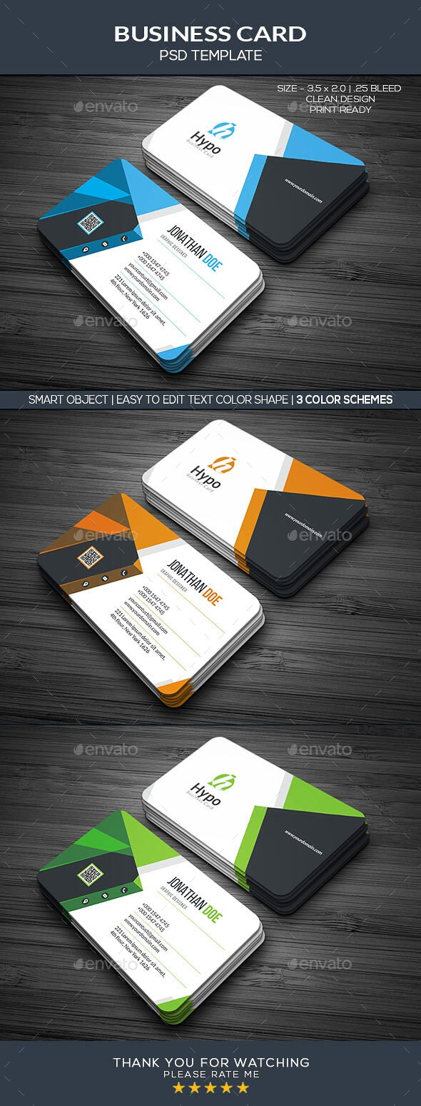 Creative Business Card Template by Hypography  GraphicRiver In Web Design Business Cards Templates