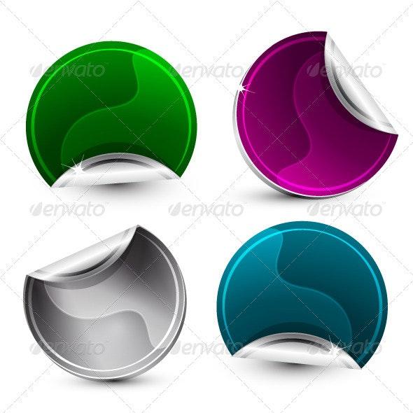 Glossy Corner Stickers