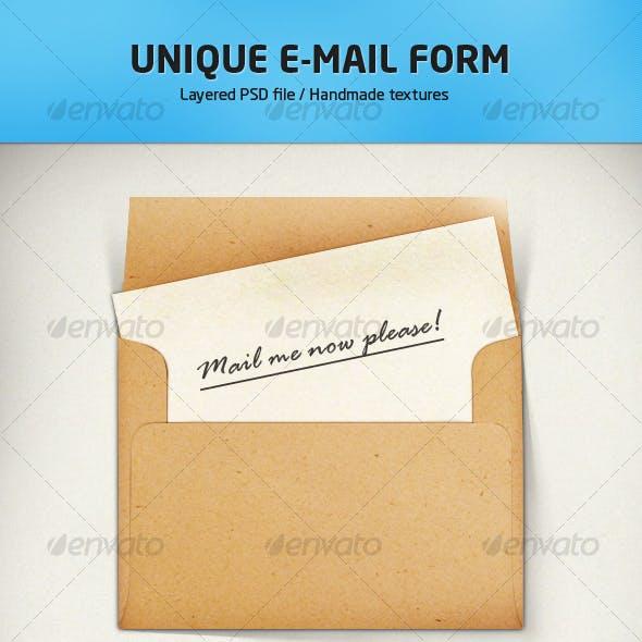 E-mail form illustration