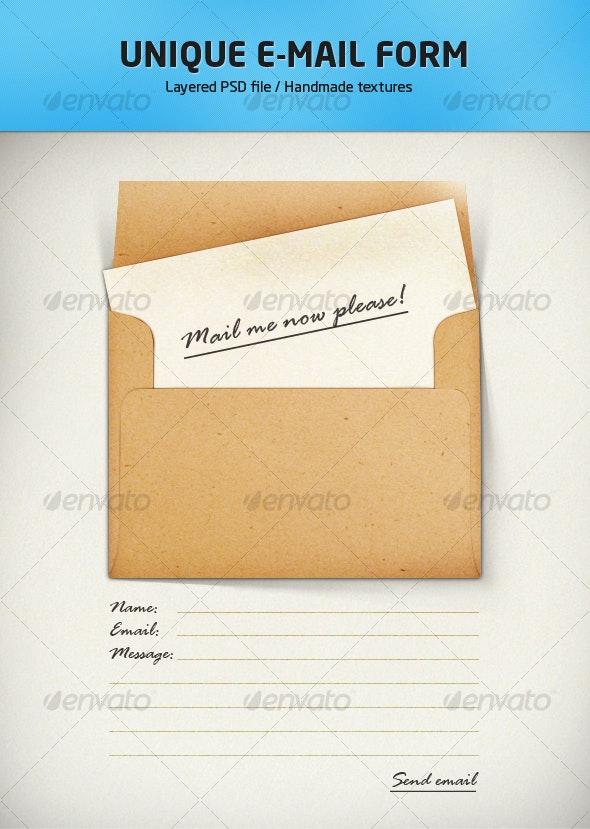 E-mail form illustration - Forms Web Elements