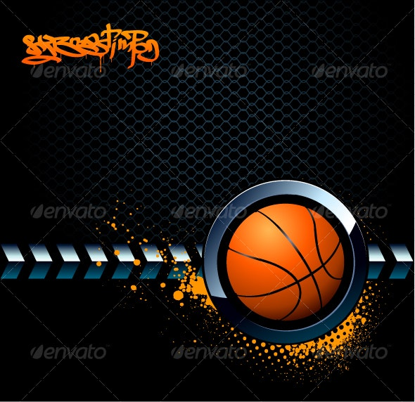 Basketball Grunge Background - Sports/Activity Conceptual