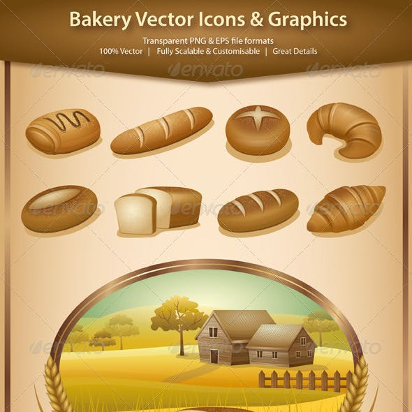 Bakery Vector Icons And Graphics