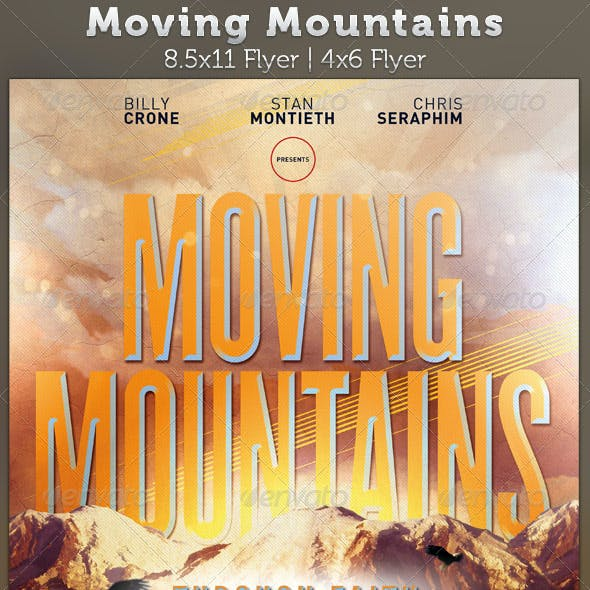 Moving Mountains: Church Flyer Template