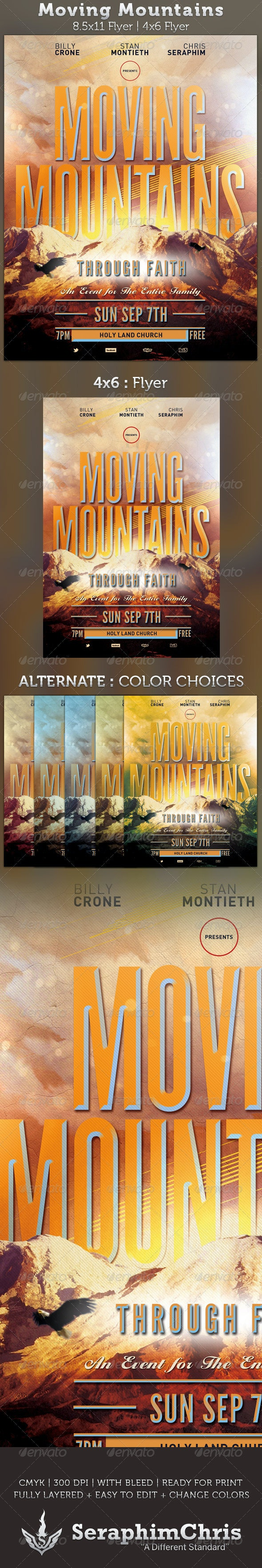 Moving Mountains: Church Flyer Template - Church Flyers