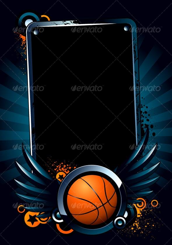 Basketball Banner - Sports/Activity Conceptual