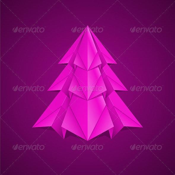 Paper Christmas Tree - Christmas Seasons/Holidays