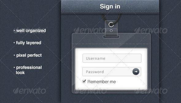 Badge Holder Login Form - Forms Web Elements