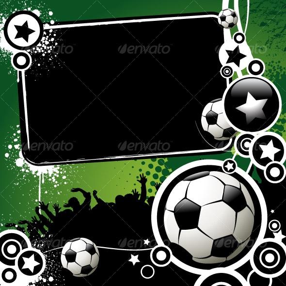 Football banner - Sports/Activity Conceptual