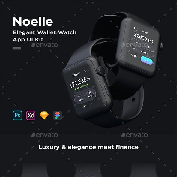 Noelle - Stunning Wallet & Trading WatchOS App UI Kit - for Sketch, Figma, XD