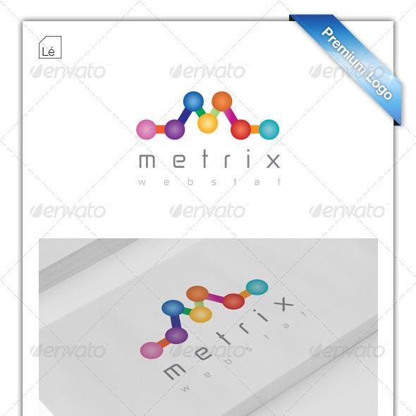 Web Metrics Logo - Analytics logo - SEO Logo