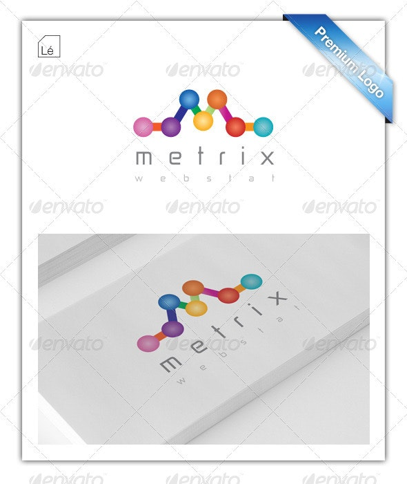Web Metrics Logo - Analytics logo - SEO Logo - Letters Logo Templates