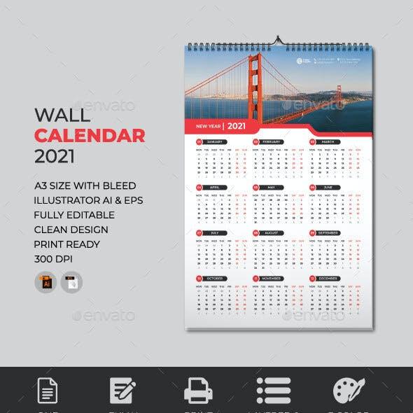 Wall Calendar Design 2021
